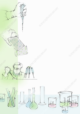 Laboratory research, illustration