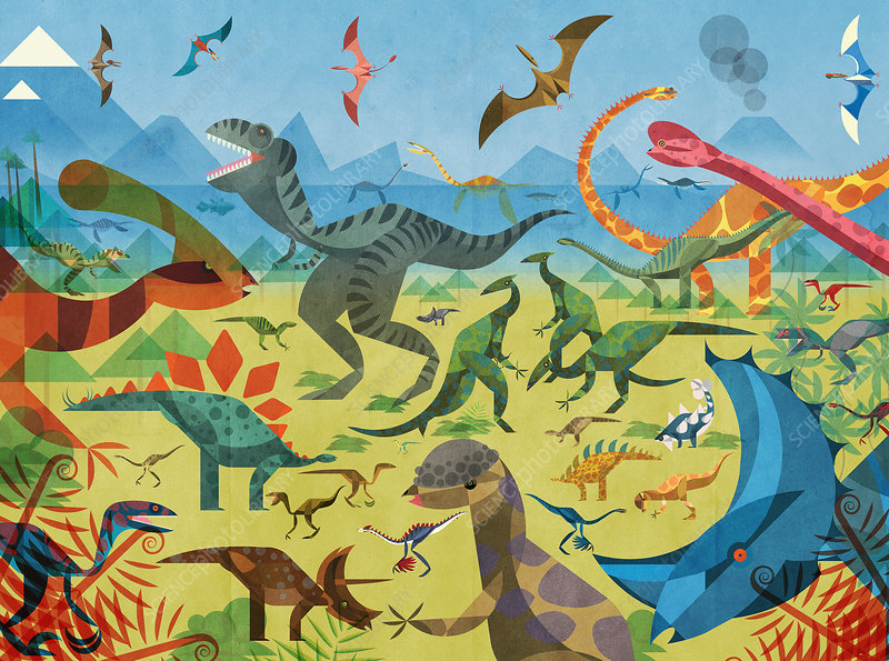 Dinosaurs, illustration