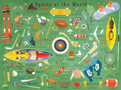 Sports from around the world, illustration