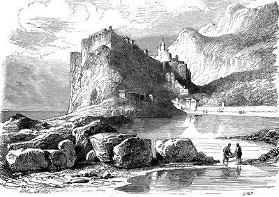 Monaco and its harbour, 19th century