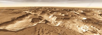 Valleys on the Martian surface