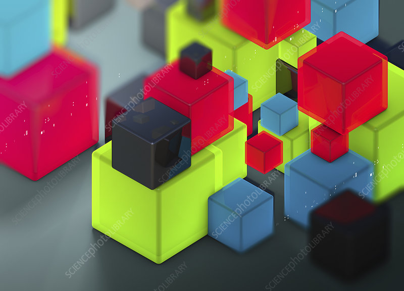 Cubes, illustration