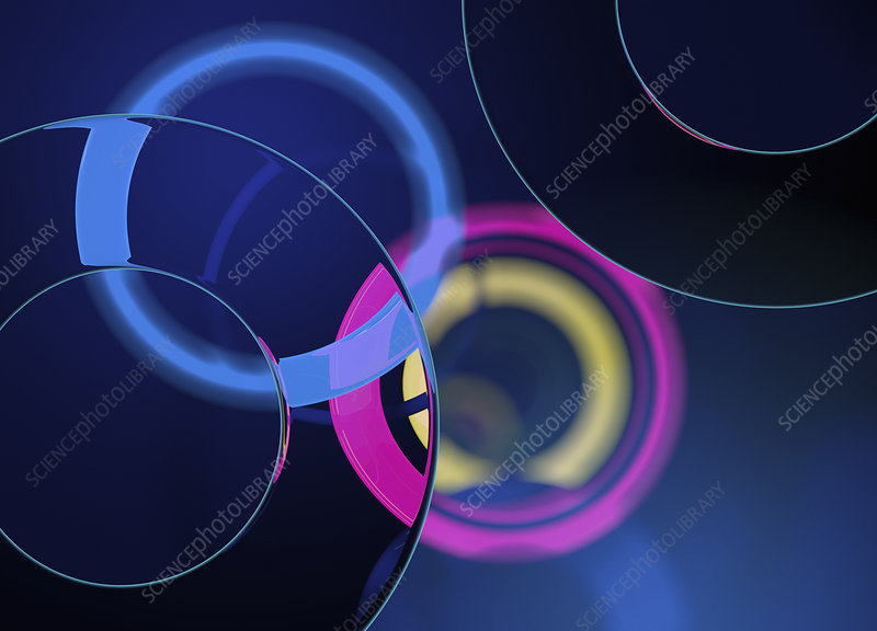 Abstract pattern of overlapping circles, illustration