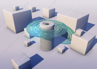 Smart speaker, conceptual illustration