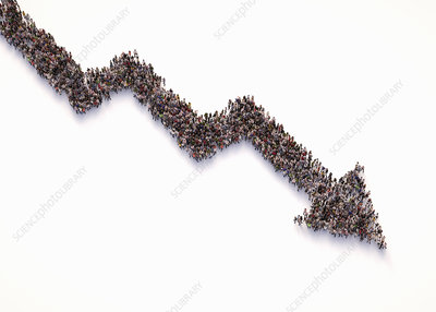 Downward trend, conceptual illustration