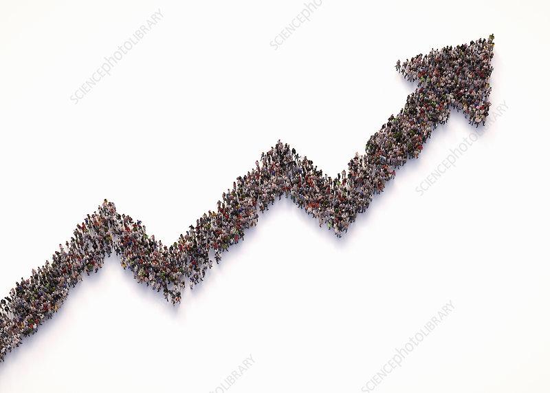 Upward trend, conceptual illustration