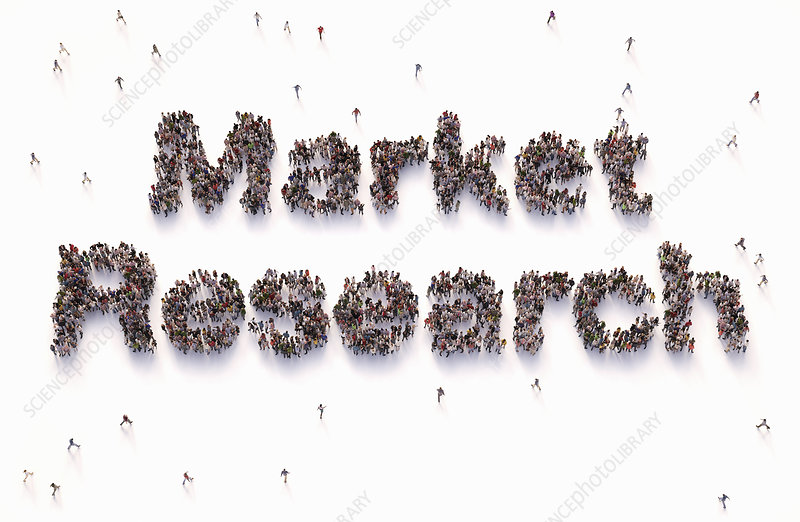 Market research, conceptual illustration