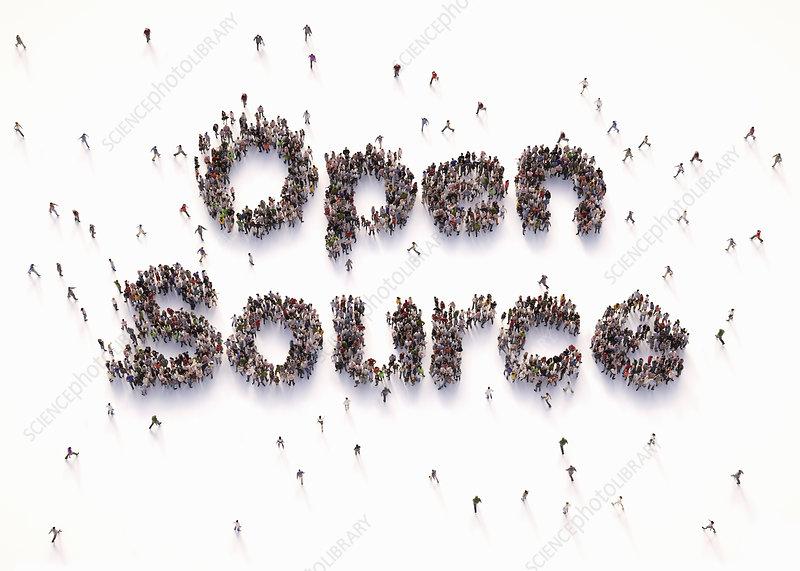 Open source, conceptual illustration