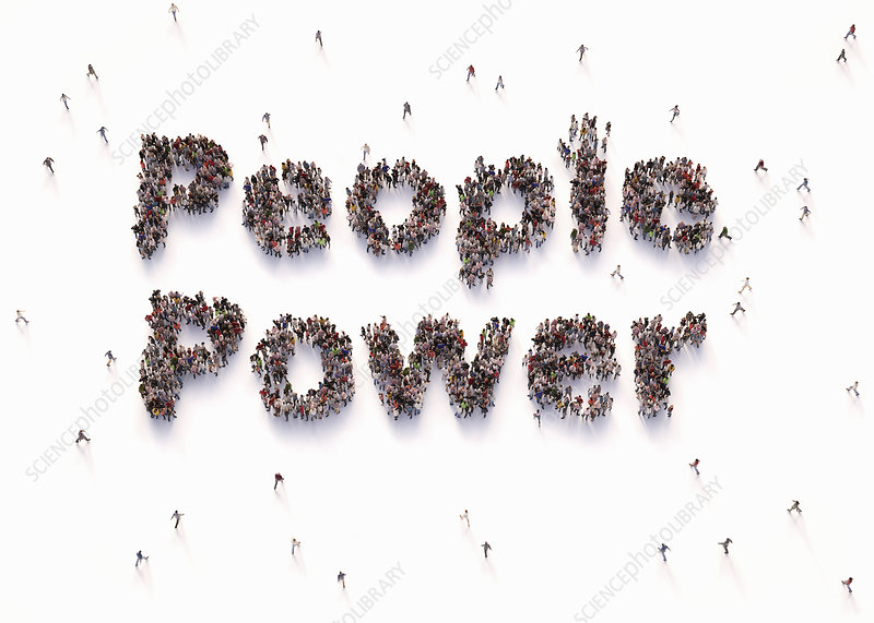 People power, conceptual illustration