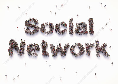 Social network, conceptual illustration