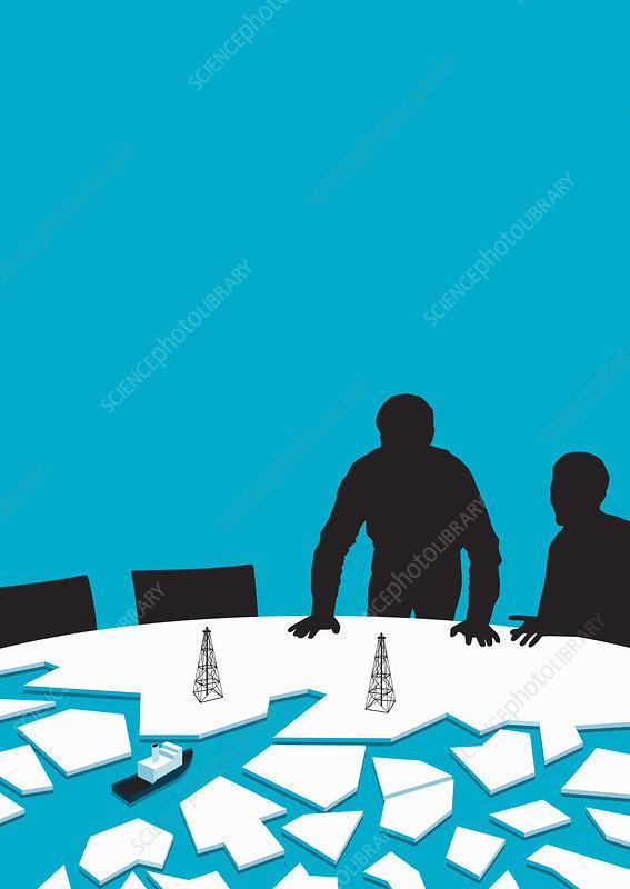 Arctic oil industry, illustration