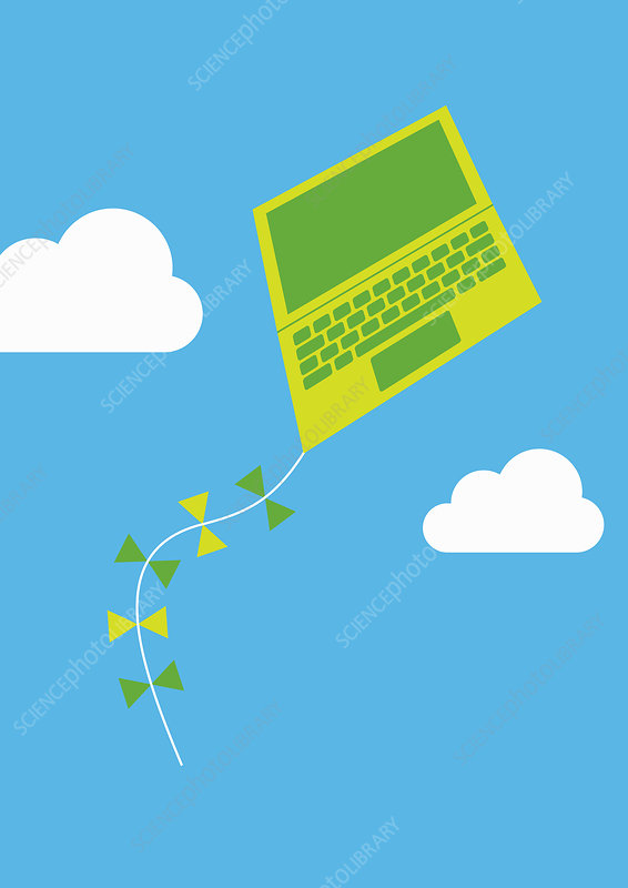 Cloud computing, conceptual illustration