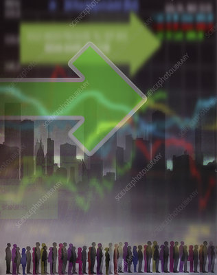 Stock market, illustration