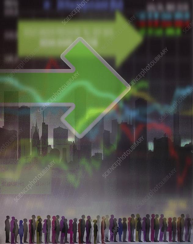 Stock market, illustration