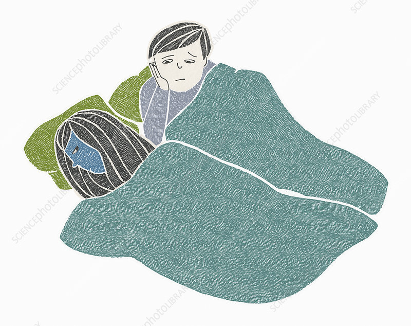 Relationship troubles, illustration