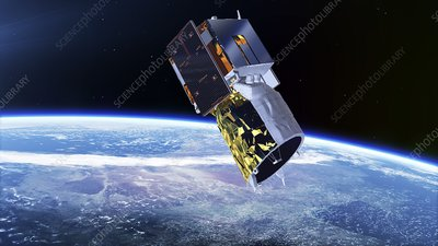 ADM-Aeolus satellite, illustration