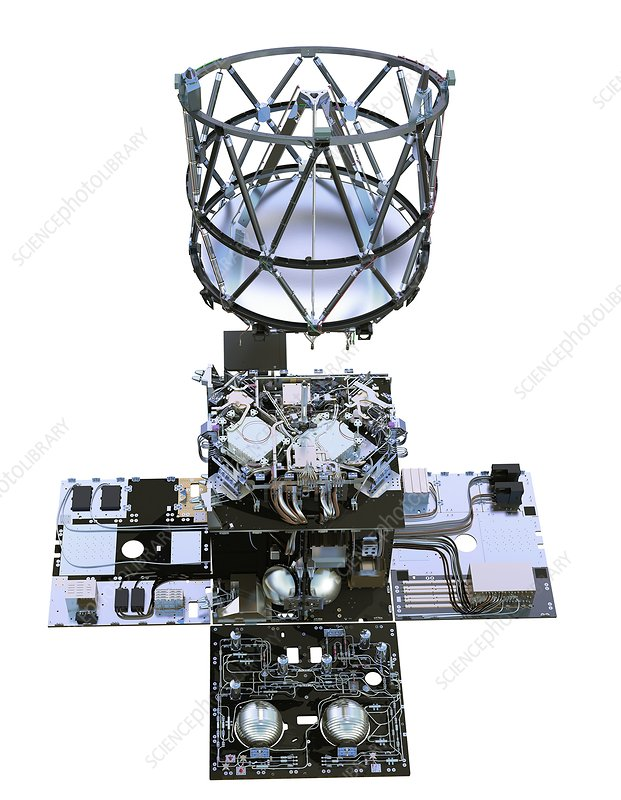 ALADIN satellite instrument, illustration