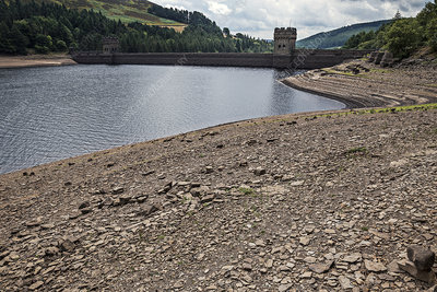 Drought-affected reservoir