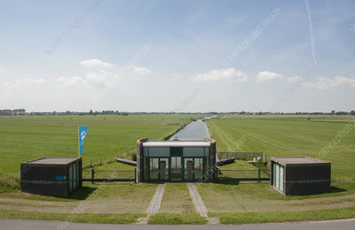 Polder pumping station