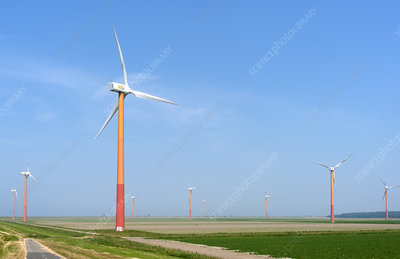 Wind farm turbines