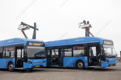 Charging electric buses