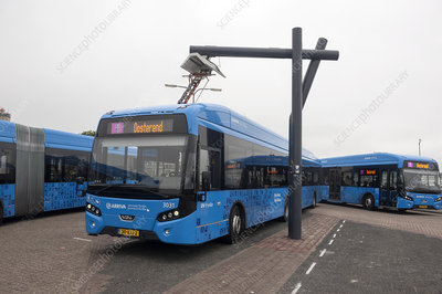 Charging electric bus