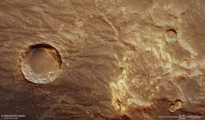 Thaumasia mountains and Coracis Fossae, Mars Express