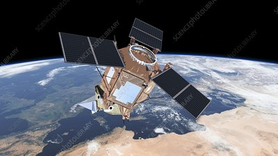 Sentinel-5P satellite in orbit, artwork