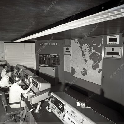 ESRO-2 satellite control room, 1968