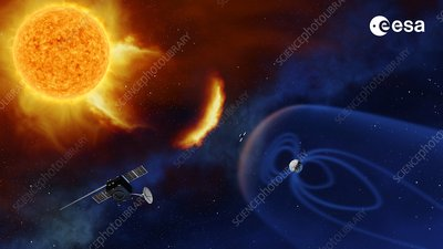Space weather observation satellites, artwork