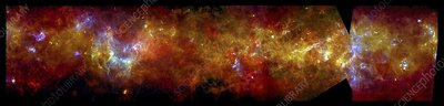Milky Way Galactic Plane, infrared image