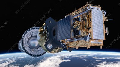 Sentinel-1B satellite deployment, artwork