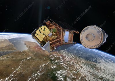 Sentinel-5P satellite deployment, artwork