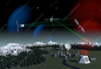 Space debris surveillance system, artwork
