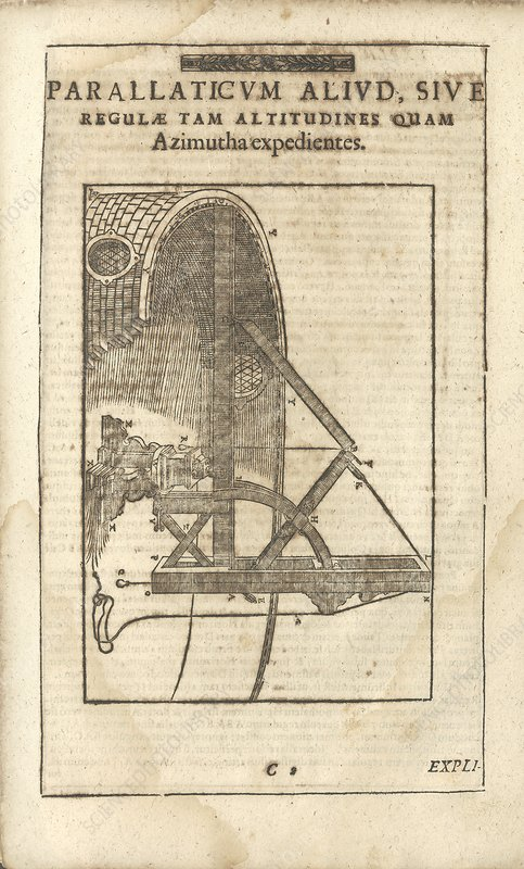 Parallactic astronomy instrument, illustration