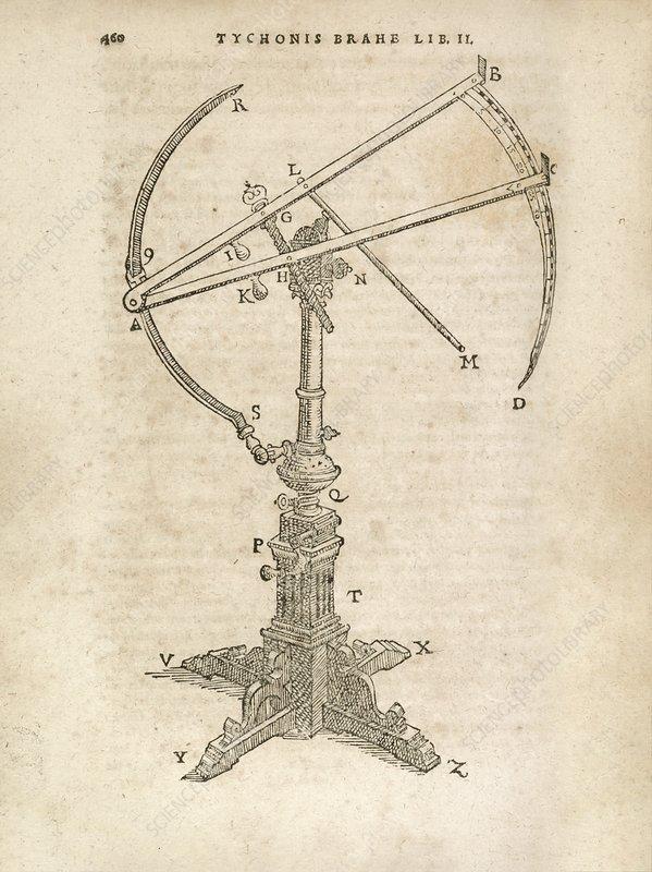 Tycho Brahe's astronomic sextant, illustration