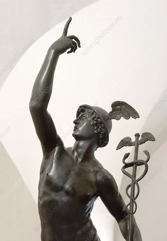 Bronze statue of Mercury