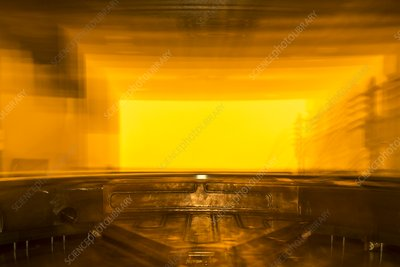 Cyclotron particle accelerator, abstract image