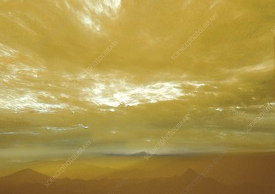 Atmosphere and surface of Venus, illustration