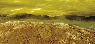 Surface of Venus, illustration