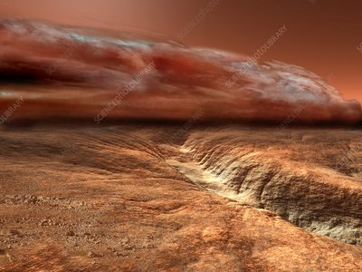 Storm on Mars, illustration