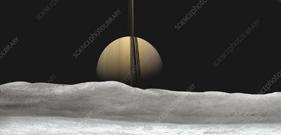 Saturn from Mimas, illustration