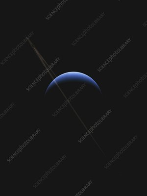 Neptune and its rings, illustration