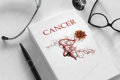 Cancer research and treatment, conceptual image