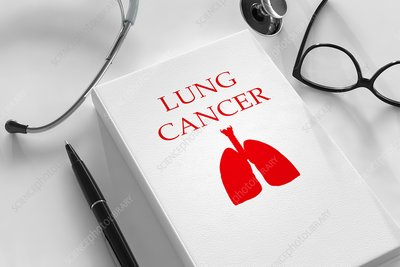 Lung cancer research and treatment, conceptual image