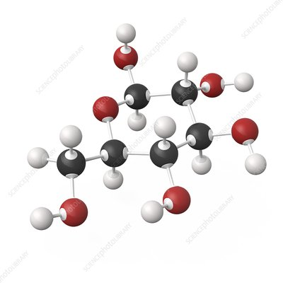 Glucose molecule, illustration