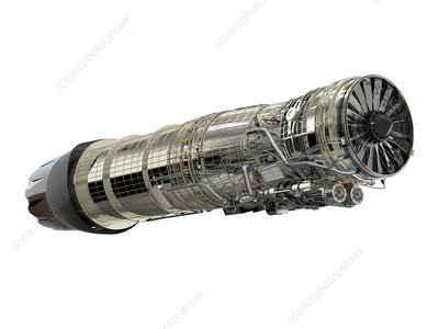 General Electric F110-400 jet engine, illustration