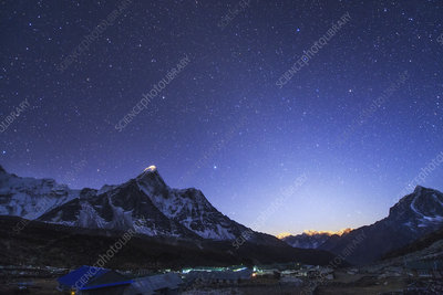 Zodiacal light over the Himalayas