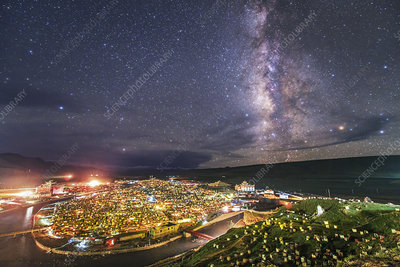 Milky Way over Yaqing Monastery