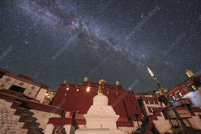 Milky Way over Ganden Monastery